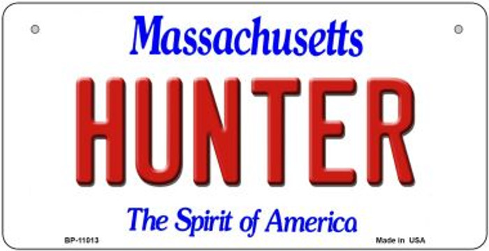 Hunter Massachusetts Novelty Metal Bicycle Plate BP-11013