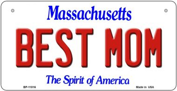 Best Mom Massachusetts Novelty Metal Bicycle Plate BP-11016