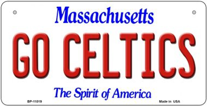 Go Celtics Massachusetts Novelty Metal Bicycle Plate BP-11019