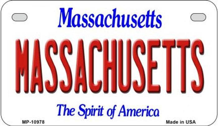 Massachusetts Novelty Metal Motorcycle Plate MP-10978