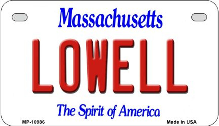 Lowell Massachusetts Novelty Metal Motorcycle Plate MP-10986
