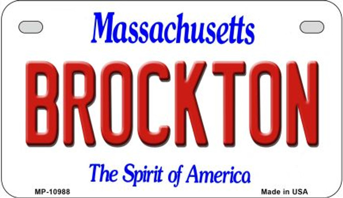 Brockton Massachusetts Novelty Metal Motorcycle Plate MP-10988