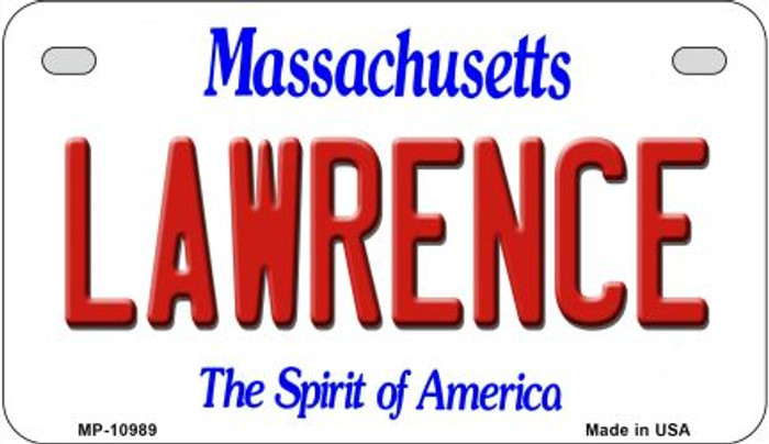 Lawrence Massachusetts Novelty Metal Motorcycle Plate MP-10989