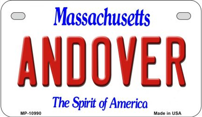 Andover Massachusetts Novelty Metal Motorcycle Plate MP-10990