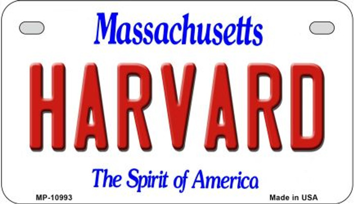 Harvard Massachusetts Novelty Metal Motorcycle Plate MP-10993