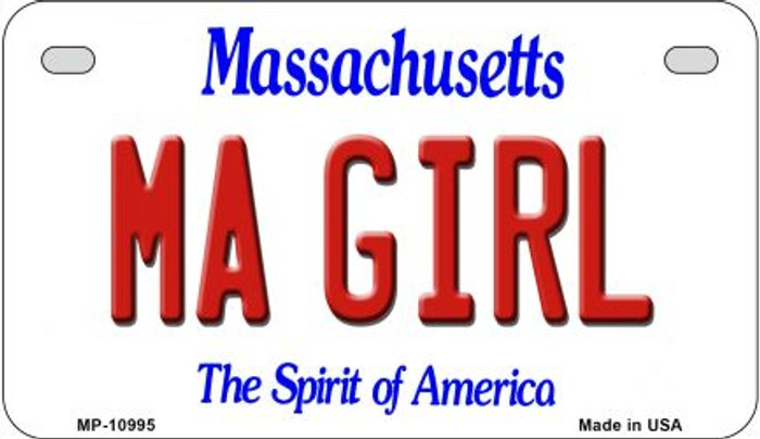MA Girl Massachusetts Novelty Metal Motorcycle Plate MP-10995
