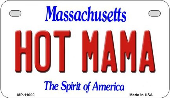 Hot Mama Massachusetts Novelty Metal Motorcycle Plate MP-11000