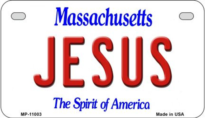 Jesus Massachusetts Novelty Metal Motorcycle Plate MP-11003
