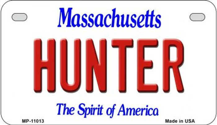 Hunter Massachusetts Novelty Metal Motorcycle Plate MP-11013