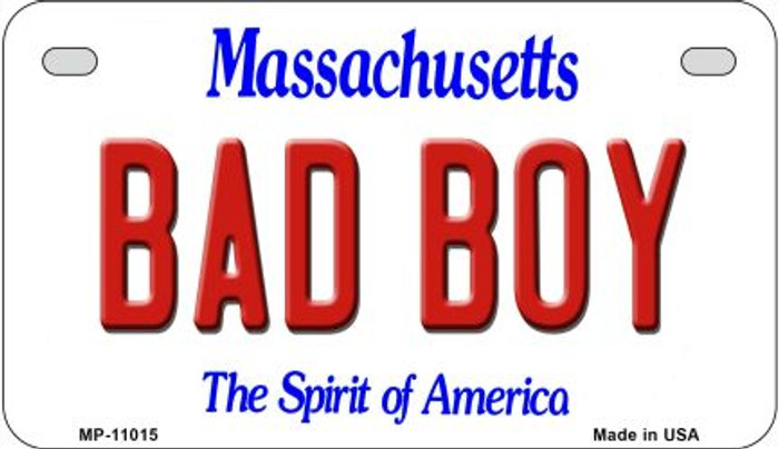 Bad Boy Massachusetts Novelty Metal Motorcycle Plate MP-11015