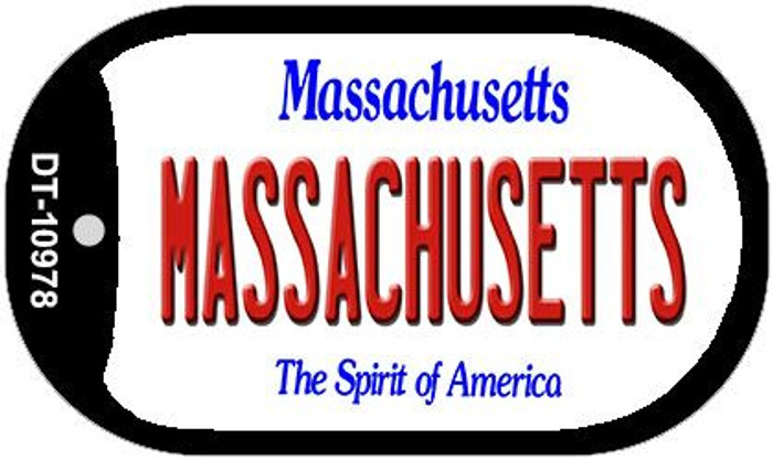 Massachusetts Novelty Metal Dog Tag Necklace DT-10978