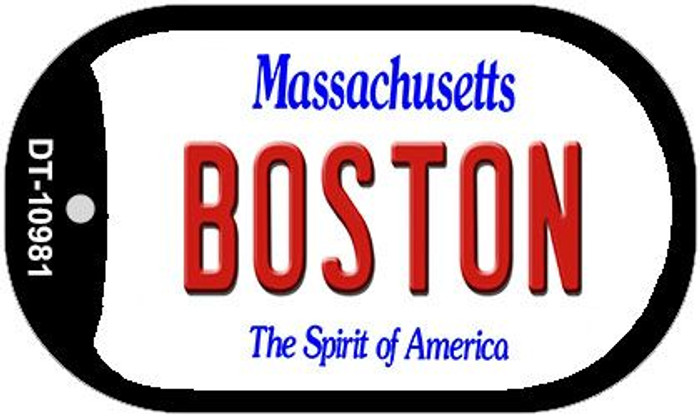 Boston Massachusetts Novelty Metal Dog Tag Necklace DT-10981