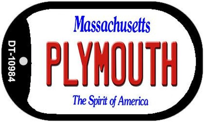 Plymouth Massachusetts Novelty Metal Dog Tag Necklace DT-10984