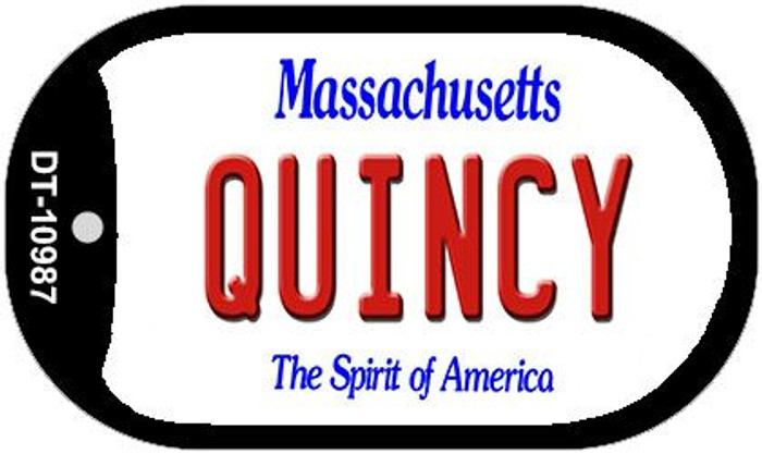 Quincy Massachusetts Novelty Metal Dog Tag Necklace DT-10987