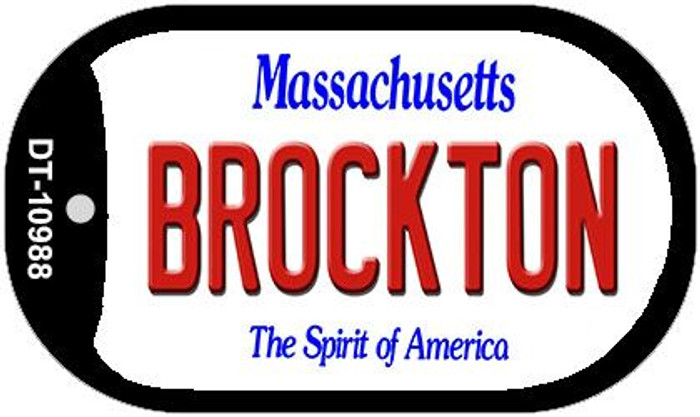 Brockton Massachusetts Novelty Metal Dog Tag Necklace DT-10988