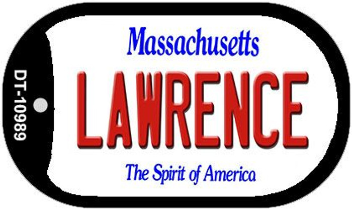 Lawrence Massachusetts Novelty Metal Dog Tag Necklace DT-10989