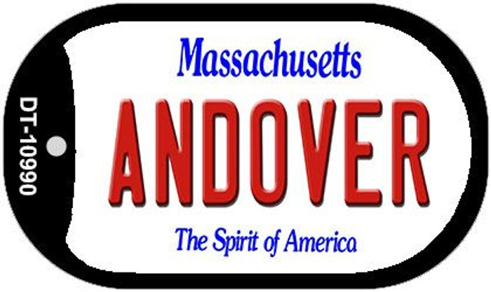 Andover Massachusetts Novelty Metal Dog Tag Necklace DT-10990