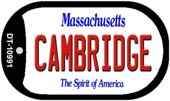Cambridge Massachusetts Novelty Metal Dog Tag Necklace DT-10991