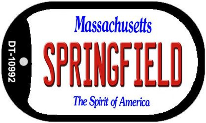 Springfield Massachusetts Novelty Metal Dog Tag Necklace DT-10992
