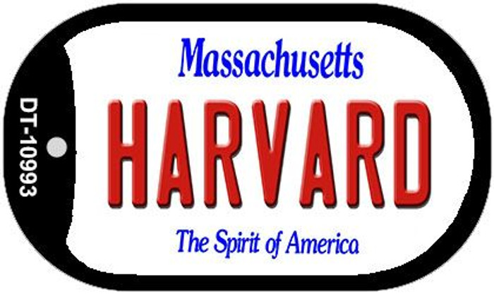 Harvard Massachusetts Novelty Metal Dog Tag Necklace DT-10993