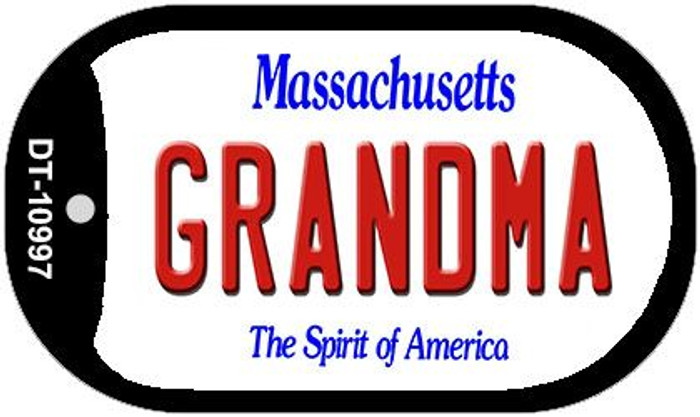 Grandma Massachusetts Novelty Metal Dog Tag Necklace DT-10997