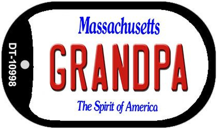Grandpa Massachusetts Novelty Metal Dog Tag Necklace DT-10998