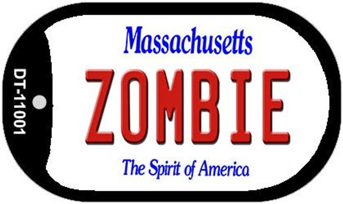 Zombie Massachusetts Novelty Metal Dog Tag Necklace DT-11001
