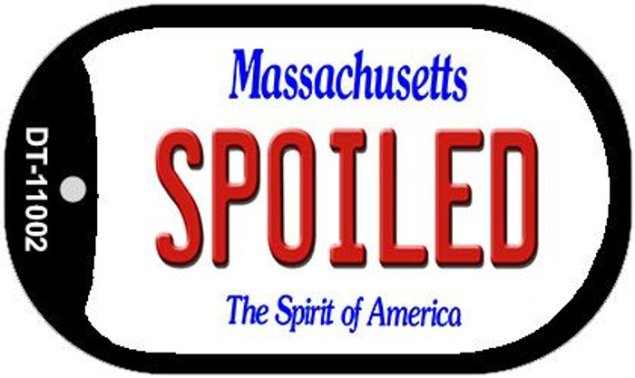 Spoiled Massachusetts Novelty Metal Dog Tag Necklace DT-11002