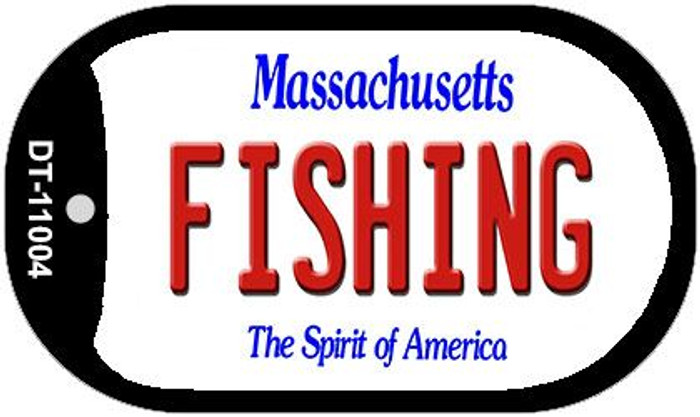 Fishing Massachusetts Novelty Metal Dog Tag Necklace DT-11004