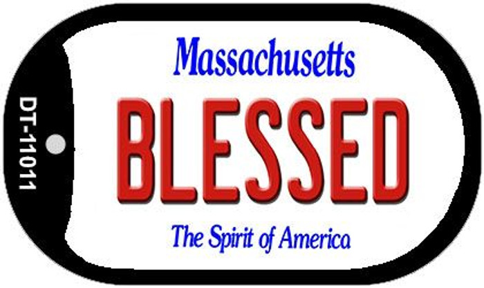 Blessed Massachusetts Novelty Metal Dog Tag Necklace DT-11011