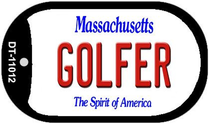 Golfer Massachusetts Novelty Metal Dog Tag Necklace DT-11012