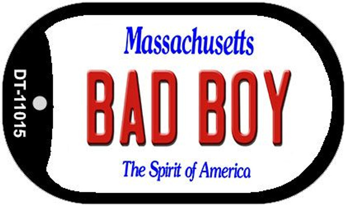 Bad Boy Massachusetts Novelty Metal Dog Tag Necklace DT-11015
