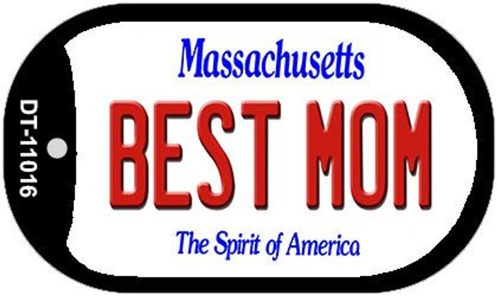 Best Mom Massachusetts Novelty Metal Dog Tag Necklace DT-11016