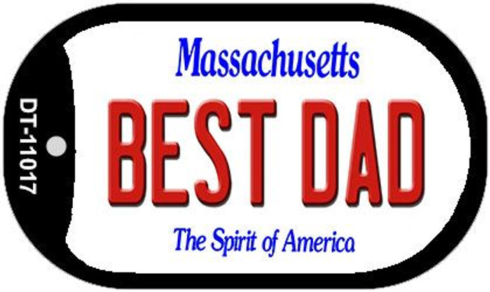 Best Dad Massachusetts Novelty Metal Dog Tag Necklace DT-11017
