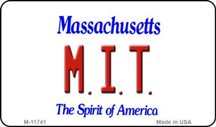 MIT Massachusetts Novelty Metal Magnet M-11741