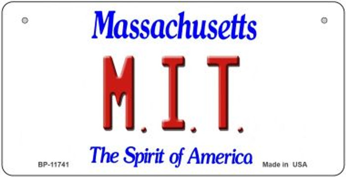 MIT Massachusetts Novelty Metal Bicycle Plate BP-11741