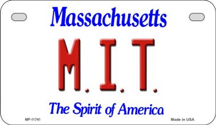 MIT Massachusetts Novelty Metal Motorcycle Plate MP-11741