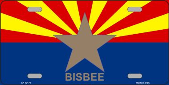 Bisbee Arizona Flag Novelty Metal License Plate LP-12177