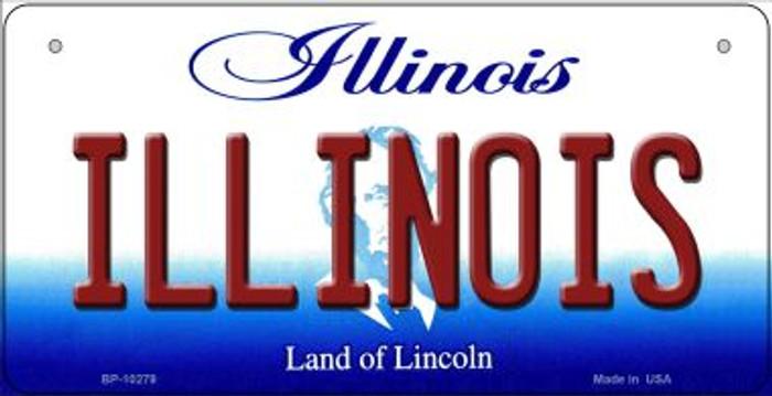 Illinois Novelty Metal Bicycle Plate BP-10279