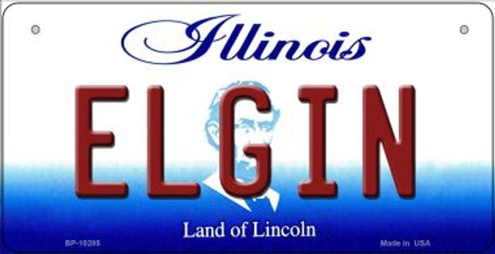Elgin Illinois Novelty Metal Bicycle Plate BP-10285