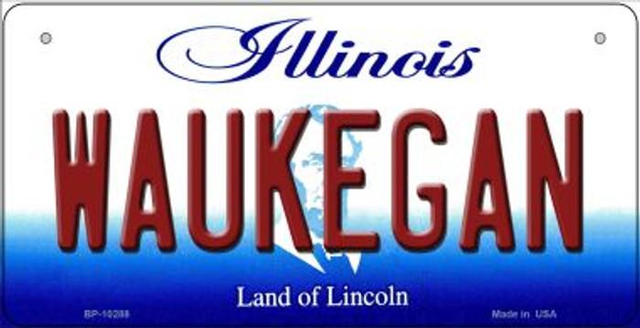 Waukegan Illinois Novelty Metal Bicycle Plate BP-10288