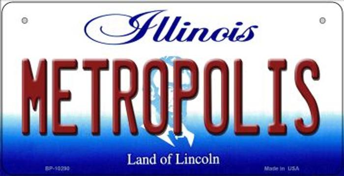 Metropolis Illinois Novelty Metal Bicycle Plate BP-10290