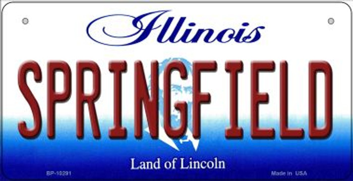 Springfield Illinois Novelty Metal Bicycle Plate BP-10291