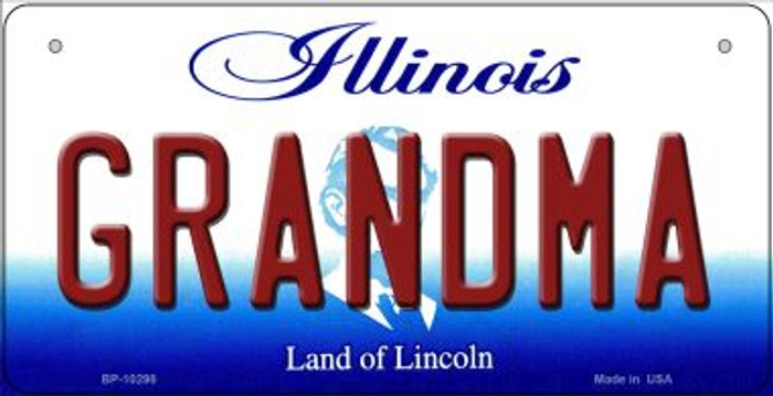 Grandma Illinois Novelty Metal Bicycle Plate BP-10298