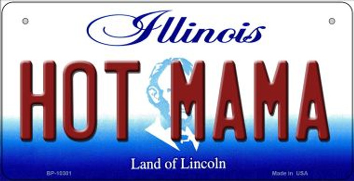 Hot Mama Illinois Novelty Metal Bicycle Plate BP-10301
