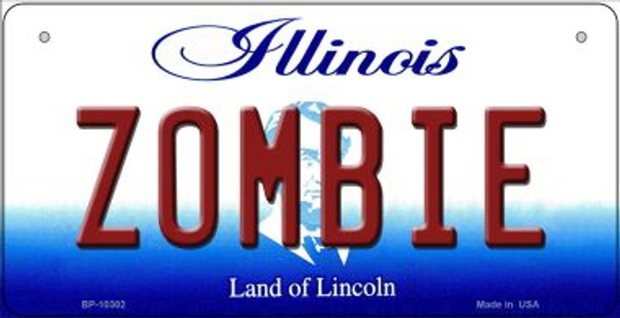 Zombie Illinois Novelty Metal Bicycle Plate BP-10302