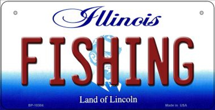Fishing Illinois Novelty Metal Bicycle Plate BP-10304