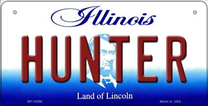 Hunter Illinois Novelty Metal Bicycle Plate BP-10306