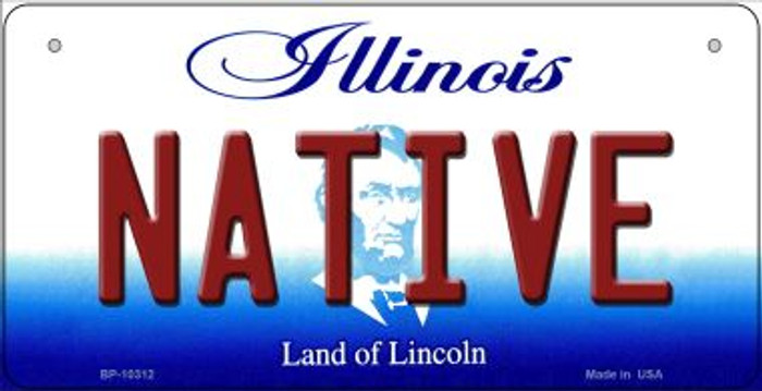 Native Illinois Novelty Metal Bicycle Plate BP-10312