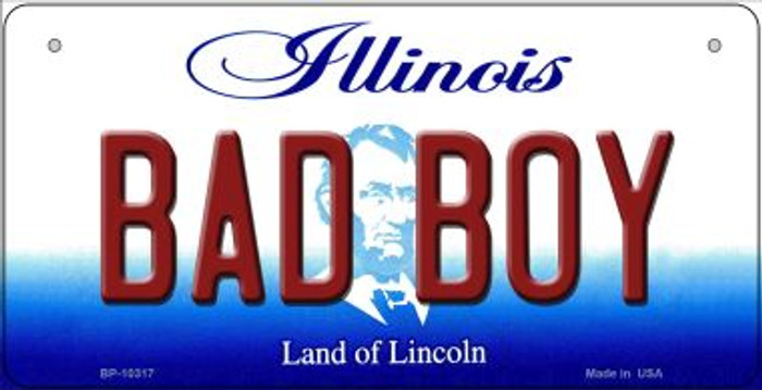 Bad Boy Illinois Novelty Metal Bicycle Plate BP-10317